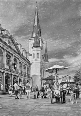 Hot Dog Digital Art - A Sunny Afternoon In Jackson Square 3 by Steve Harrington