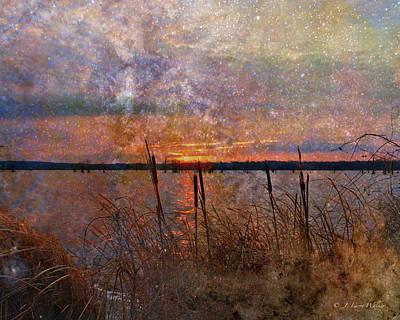 Cross Digital Art Digital Art - A Sunrise To Remember by J Larry Walker