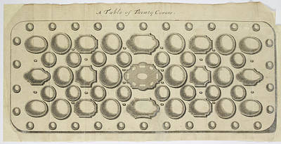 Chapelle Photograph - A Table Of Thirty Covers by British Library