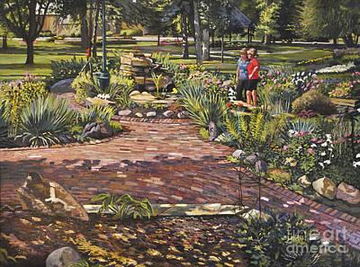 Bukowski Painting - A Talk In The Park by William Bukowski
