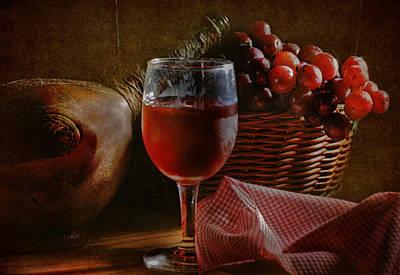 A Taste Of The Grape Print by David and Carol Kelly