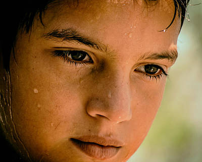 Sweating Photograph - A Thoughtful Young Man by Mountain Dreams