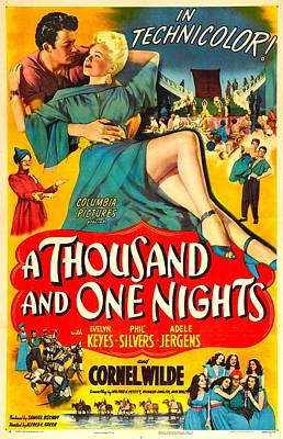 Adele Photograph - A Thousand And One Nights, Us Poster by Everett