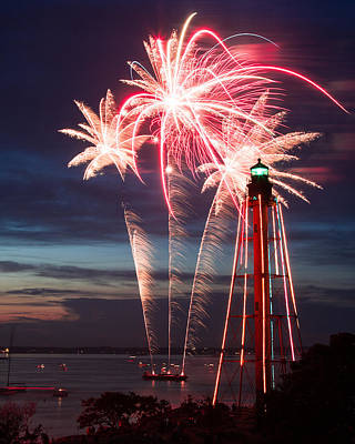 A Three Burst Salvo Of Fire For The Fourth Of July Print by Jeff Folger
