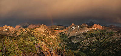 A Thunder Shower And Rainbow In The Tetons Print by Leland D Howard