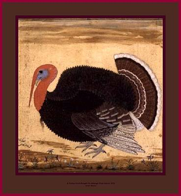 Potato Mixed Media - A Tom Turkey Brought To Jahangir From Goa In 1612 With Labeled Borders by L Brown