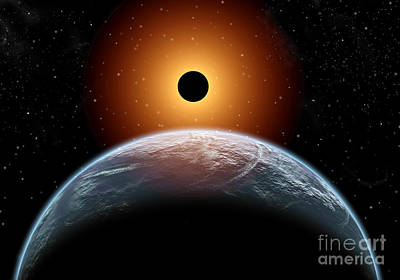 A Total Eclipse Of The Sun As Seen Print by Mark Stevenson