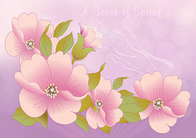 A Touch Of Spring Print by Gayle Odsather