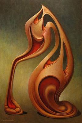 Morph Painting - A Tragedy Of Laughs by Frank Wermuth