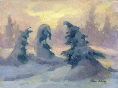 Winter Scenes Painting - A Tranquil Moment by Diane McClary
