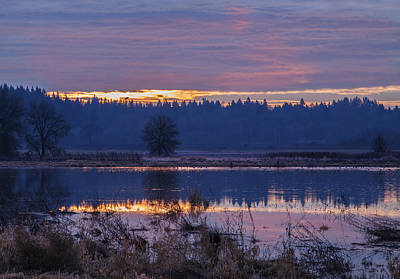 A Tranquil Sunrise Print by Angie Vogel