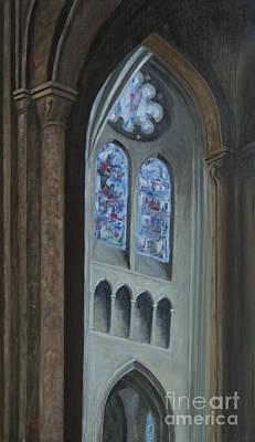 Schmid Painting - A' Travers Les Colonnes De Chartes by J Kenneth Grody