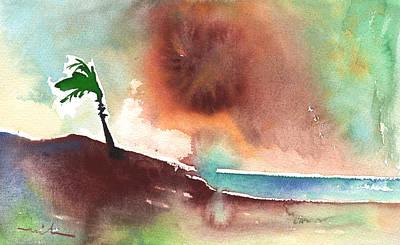 Lanzarote Painting - A Tree In Lanzarote by Miki De Goodaboom