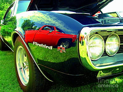 A Truck In My Firebird 1967 Print by Margaret Newcomb