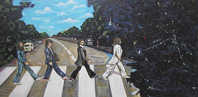 Johnlennon Painting - A Twist On Abbey Road By Erik Franco.  by Erik Franco