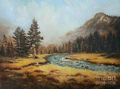 A Valley Up High Print by Diana Besser