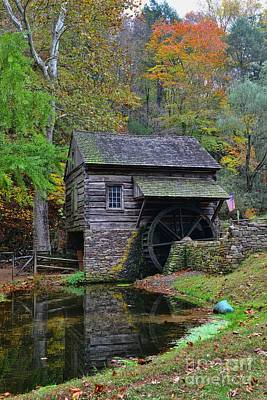 Grist Mill Photograph - A Very Old Grist Mill by Paul Ward