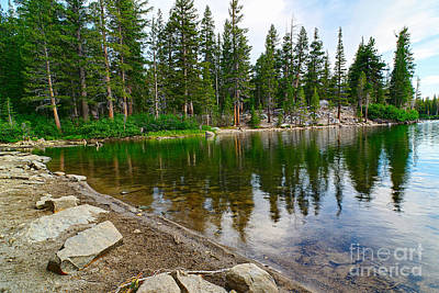Mammoth Photograph - A Very Tranquil View Of Twin Lakes In Mammoth Lakes California by Jamie Pham
