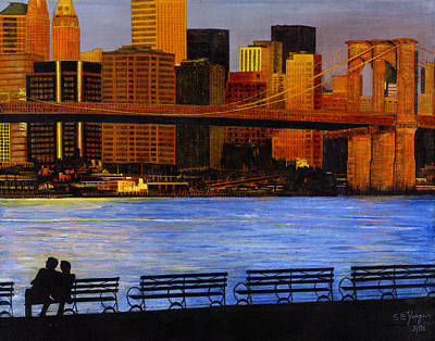 A View From Brookklyn Print by Stuart B Yaeger