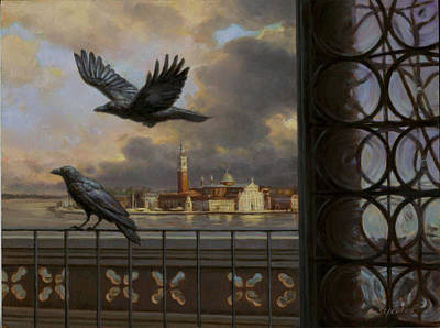 Painting - A View From The Doge's Palace by Sam Yeates