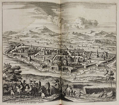 A View Of Baghdad In The 17th Century Print by British Library