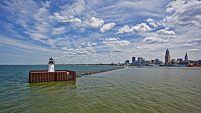 Lighthouses Photograph - A View Of Cleveland by Marcia Colelli