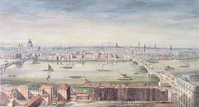 Dome Painting - A View Of London From St Pauls To The Custom House, 1837 by Gideon Yates