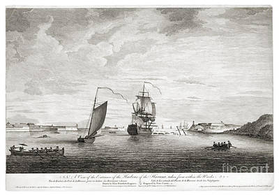 A View Of The Entrance Of The Harbour Of The Havana Taken From Within The Wrecks - 1764 Print by Pablo Romero