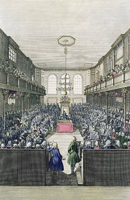 A View Of The House Of Commons Print by English School