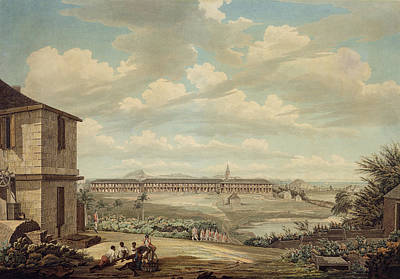 A View On The Island Of Antigua The English Barracks And St. Johns Church Seen From The Hospital Print by Thomas Hearne