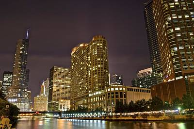 A View Over The Chicago River Print by Frozen in Time Fine Art Photography