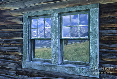 Cabin Window Photograph - A View To The Tetons by Sandra Bronstein