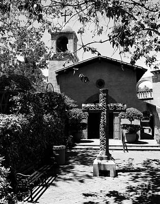 Adobe Church Photograph - A Village Chapel Bw by Mel Steinhauer
