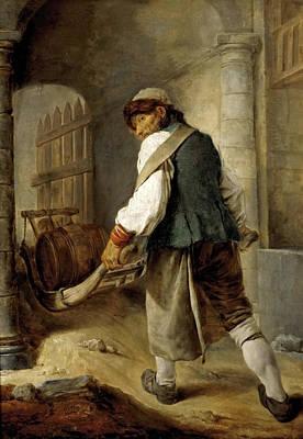 Hutin Painting - A Villager by Charles-Francois Hutin