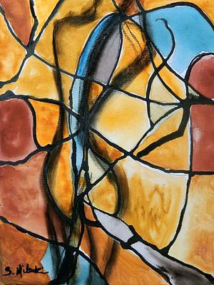 A Vision In Amber Print by Sandy Mileski
