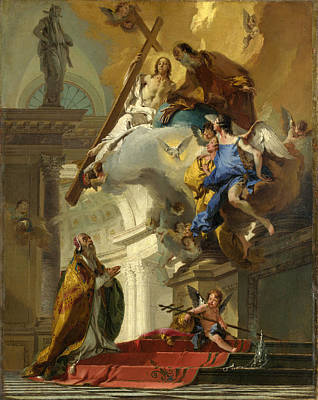 Vision Painting - A Vision Of The Trinity by Giovanni Battista Tiepolo