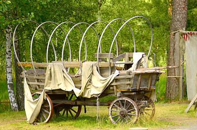Cartwheel Photograph - A Wagon by Toppart Sweden