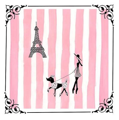 A Walk In Paris Print by Stephanie Grant