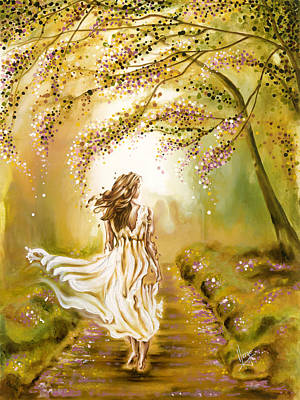 Karina Painting - A Walk In The Park by Karina Llergo