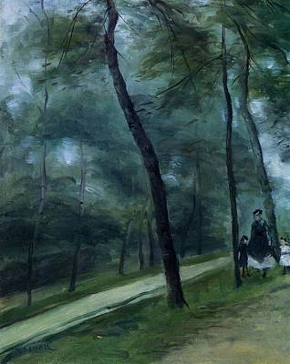 Pierre August Renoir Painting - A Walk In The Woods by Celestial Images