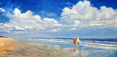 Painting - A Walk On The Beach by Keith Wilkie