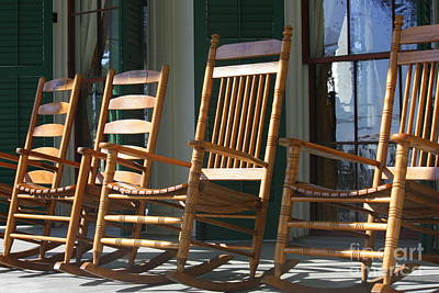 Rocking Chairs Photograph - A Warm Beauvoir Welcome by Carol Groenen