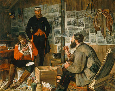 Soldier Painting - A Welcome Arrival, 1857 by John Dalbiac Luard