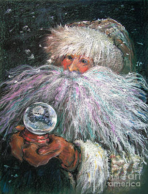 Santa Claus Painting - A White Christmas Remembered by Shelley Schoenherr