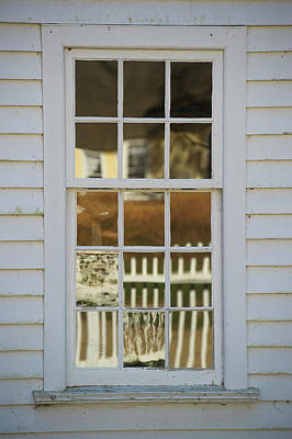 A Window Made With Antique Glass Print by Greg Dale
