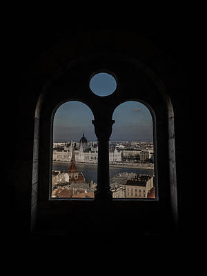 A Window On Budapest Print by Chris Fletcher