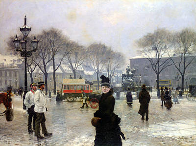 A Winters Day Print by Paul Gustav Fischer