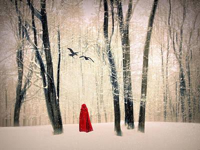 Alone Digital Art - A Winters Tale by Jessica Jenney