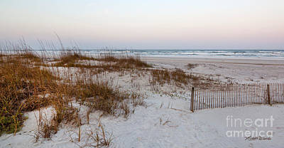 A Wintry Day At St Augustine Beach Print by Michelle Wiarda