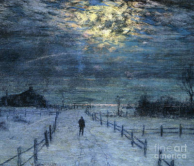 Lonely Painting - A Wintry Walk by Lowell Birge Harrison